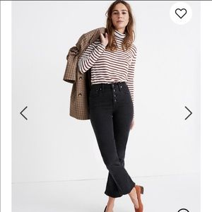 Madewell Cali Demi-Boot Jeans Button fly